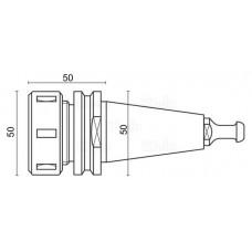 Porte-outil ISO30 pour collets ER-32, 50mm